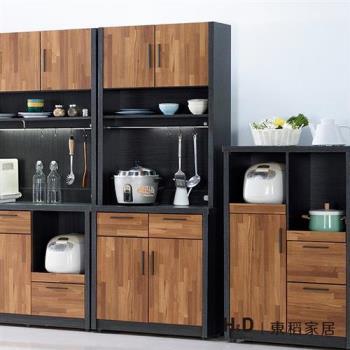H&D 尚恩2.7尺雙色碗盤餐櫃(整組)