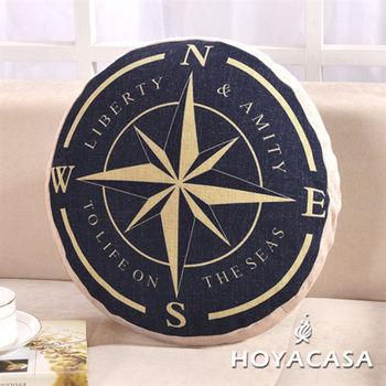 《HOYACASA 美式經典》時尚星麻布沙發抱枕靠墊