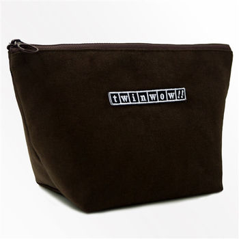 twinwow - 貼心時尚 - 細緻質感化妝包 - 咖啡金