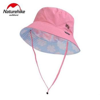 【Naturehike】迷彩潮流款速乾透氣漁夫帽/遮陽帽/防曬帽 (雲朵淺粉)