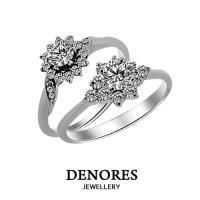 GIA鑽石超值特惠 E/VS2 0.30克拉八心八箭完美車工 奢華戒指款式二選一