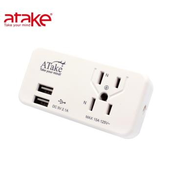 【ATake】3座2+3孔USB擴充座2.1A  AEL-2032U