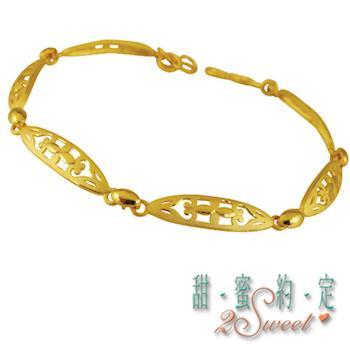 【甜蜜約定】甜蜜純金手鍊HC-S1436
