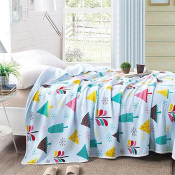 Betrise貝翠絲 天竺棉針織舒適涼被150x200cm(森林)