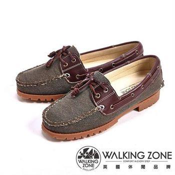 【WALKING ZONE】情侶款復刻拼接雷根鞋(咖色) -女鞋_(男女款尺寸皆有)