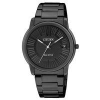 CITIZEN Eco-Drive 靜謐時光光動能腕錶(IP黑/32mm) FE6015-56E