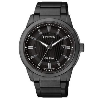 CITIZEN Eco-Drive 都會時尚光動能腕錶/黑/42mm/BM7145-51E