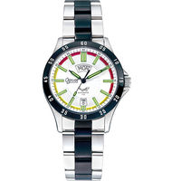 瑞士愛其華( Ogival )夜鷹系列時尚氚氣機械腕錶-白   3613-011ATMSB