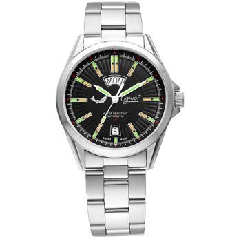 Ogival 瑞士愛其華-飛行官氚氣時尚自動機械錶-黑3697ATMS