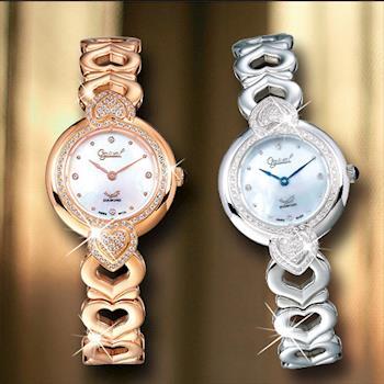 愛其華 Ogival-晶漾傾心真鑽時尚腕錶(可選色) 380-17DLR / 380-17DLW