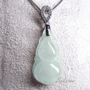 【Selene珠寶】冰種葫蘆翡翠項鍊(A貨翡翠)