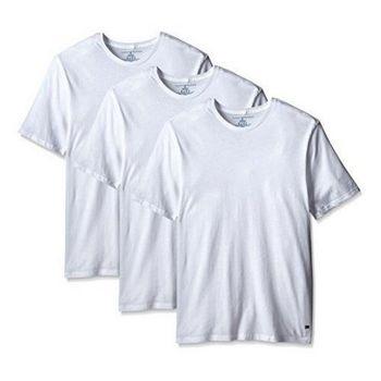 【Tommy Hilfiger】2016男時尚品味圓領白色內衣3件組【預購】
