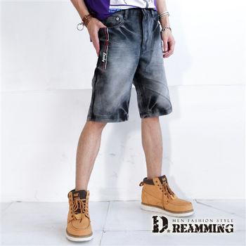 【Dreamming】個性鬼洗渲染牛仔五分短褲
