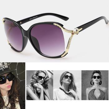 【Dr.Mango】韓系潮款抗UV400偏光女款華貴CoCo款太陽眼鏡