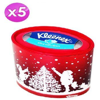 美國 Kleenex-盒裝面紙70抽x5入組 (雪人限定版)