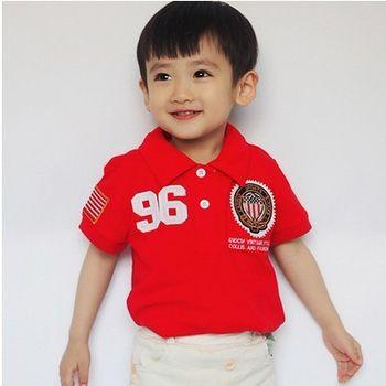 [協貿國際]男童夏裝短袖T卹兒童純棉翻領POLO衫半袖