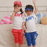 [協貿國際]夏裝男女童短袖T卹套裝兒童短袖休閒兩件套