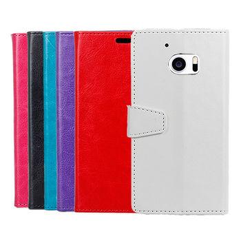 【QinD】HTC 10/10 Lifestyle 水晶帶扣插卡皮套
