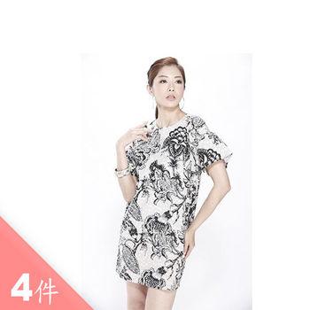 日本Impress清涼竹節絲棉長洋裝(4件)M-XXL