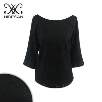 【HIDESAN海蒂山】都會簡約時尚後綁蝴蝶結短袖上衣