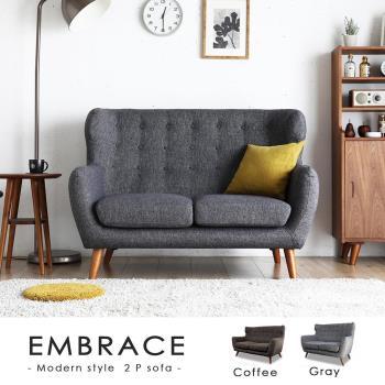 【H&D】Embrace 擁抱高背雙人獨立筒布沙發-2色