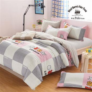 【R.Q.POLO】新絲柔系列-夢想 單人床包薄被套三件組3.5X6.2尺