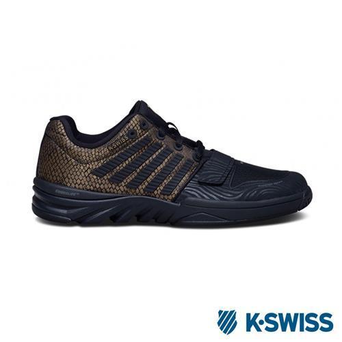 K-Swiss X Court 全方位運動鞋-女-黑/咖啡金