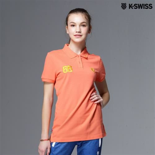 K-Swiss Solid Polo短袖Polo衫-女-橘 S-XXL