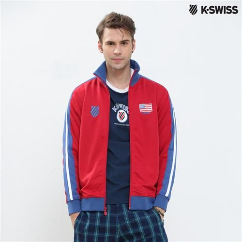 K-Swiss Zip Up Jacket運動外套-男-紅  S-XXL