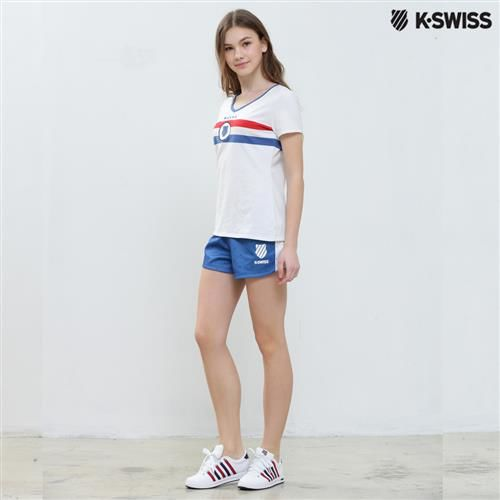 K-Swiss Allover Print Shorts運動短褲-女-寶藍  S-XXL