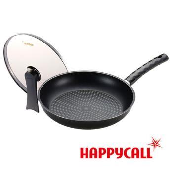 【HAPPYCALL】鑽石塗層不沾超值平底鍋組(30cm平底鍋+鍋蓋)