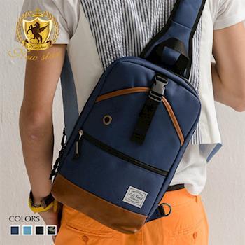 NEW STAR 學院風尼龍亮彩配皮側背包單肩背包後背包 BK161