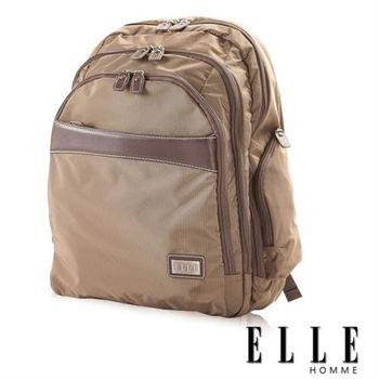 【ELLE HOMME】優雅貴族 IPad / 筆電機能後背包(咖啡EL83750-45)