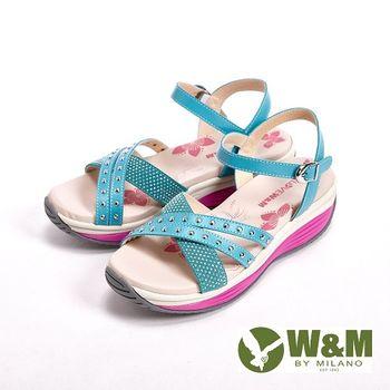 W&M 春夏繽紛厚底涼拖鞋 女鞋-淺藍(另有桃)