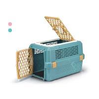 (特價) 皇冠運輸籠-天窗型寵愛籠 No.843 (粉色/藍色) 有防誤開設計