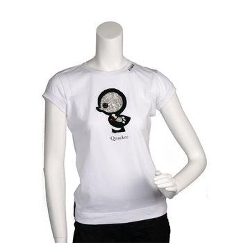 PINKO 俏皮串珠繡縫可愛小雞造型短袖T shirt (白色_S-展示品)