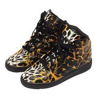 Adidas OriginalsJeremy Scott 豹紋高筒球鞋(黑色)