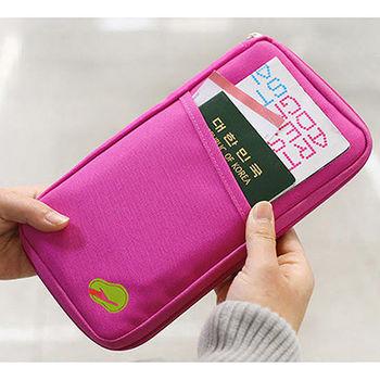 【韓版】多功能旅遊收納護照包 隨手包(長版 4色)