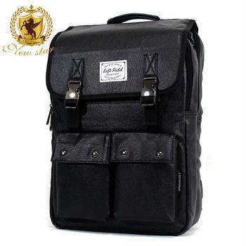 NEW STAR 韓系學院質感雙金屬扣口袋電腦包後背包 BK158