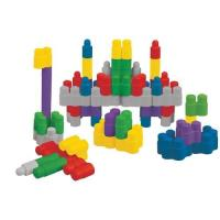 【Ks Kids 奇智奇思】彩色安全積木-趣味隨身建構積木組 75pcs SB00449