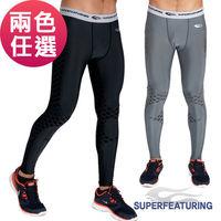 SUPERFEATURING 專業跑步 三鐵 Training運動壓縮緊身褲 兩色