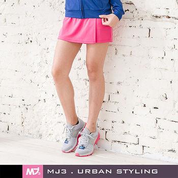 【MJ3】抗UV吸排一片式短褲裙-女(俏桃紅)S-L