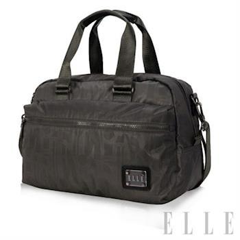 【ELLE】法式優雅休閒 輕細尼龍防潑水 手提/側背包款(優雅灰 EL82341-09)