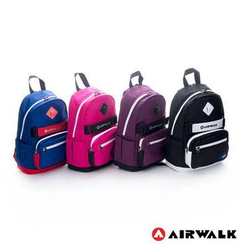 【美國 AIRWALK】小豬高彩度撞色運動筆電後背包-共四色
