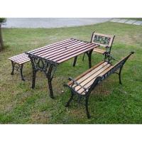 BROTHER 兄弟牌玫瑰雙人鑄鐵公園椅(附椅背)或花網雙人鑄鐵公園椅+鑄鐵公園桌+無背公園椅+鑄鐵單人椅