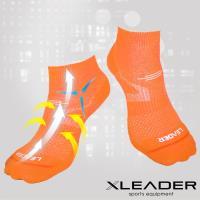 任-LEADER COOLMAX  薄型除臭機能襪 女款 亮橘