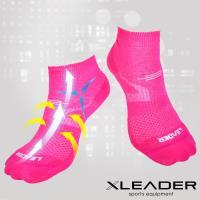 任-LEADER COOLMAX 運動專用薄型除臭機能襪 女款(桃紅)