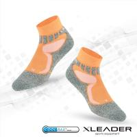 任-LEADER COOLMAX 排汗高筒/戶外健行/機能運動襪(橘色)