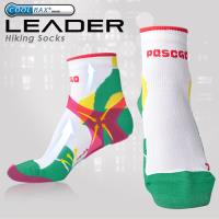 任-LEADER COOLMAX 透氣中筒 戶外健行 機能 襪 綠色