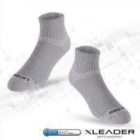 任-LEADER COOLMAX 除臭 機能運動襪(灰色)